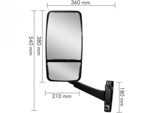 Conjunto Espelho Convexo/Bifocal LD P/ Ford Cargo 712/814/815/915 ...2009  - TERRA DE ASFALTO ACESSÓRIOS