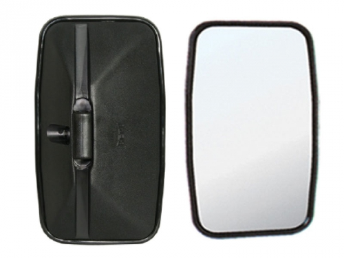 Espelho Retrovisor Avulso Plano 16mm P/ MB 608D  - TERRA DE ASFALTO ACESSÓRIOS