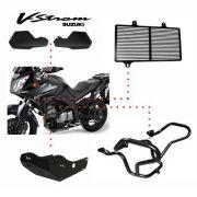 Kit V Strom Dl 650 Protetor Mão, Carter, Radiador E Motor