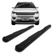 Estribo Oblongo Preto Jeep Compass 2017
