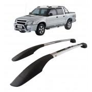 Longarina Decorativa Teto Alumínio Polido S10 1998 a 2011 Não Fura Teto