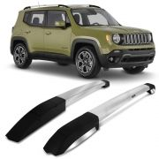 Longarina De Teto Elite Jeep Renegade - Alumínio Polido - Bepo