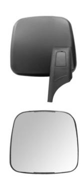 Espelho Avulso Convexo Menor LE P/ Scania T/R 124P  - TERRA DE ASFALTO ACESSÓRIOS