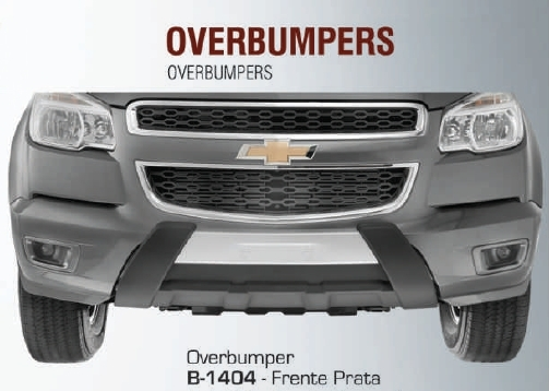 Overbumper Frontal Nova S10  - TERRA DE ASFALTO ACESSÓRIOS