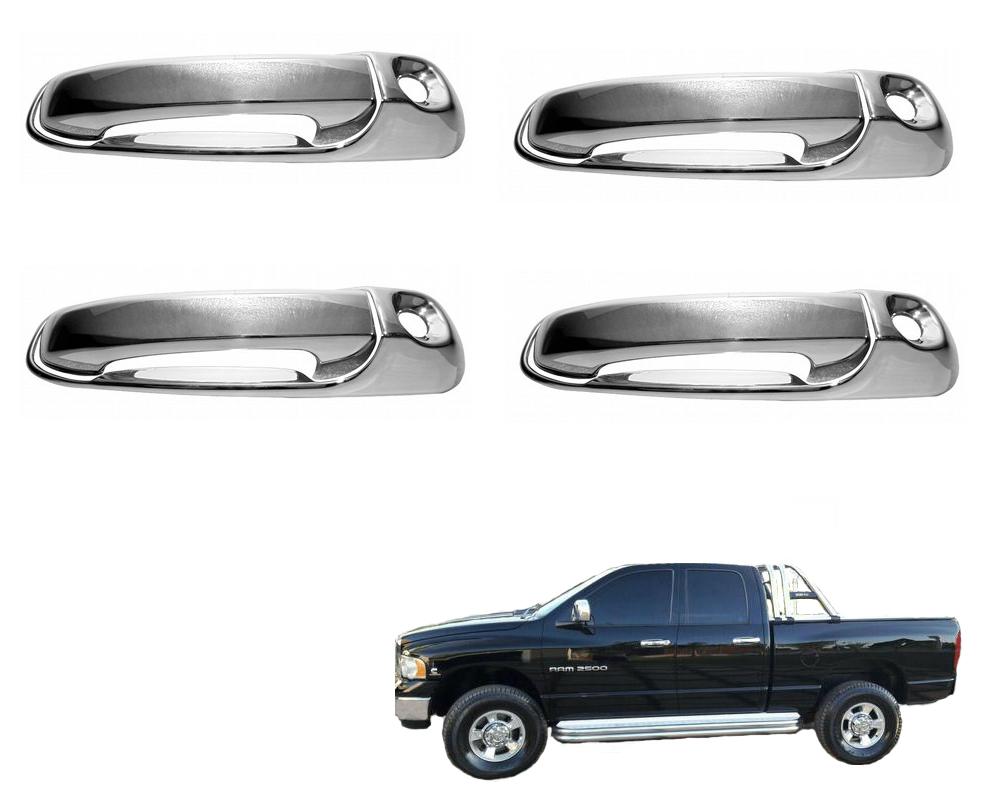 Aplique Cromado de Maçaneta Dodge Ram 2005 a 2010  - TERRA DE ASFALTO ACESSÓRIOS