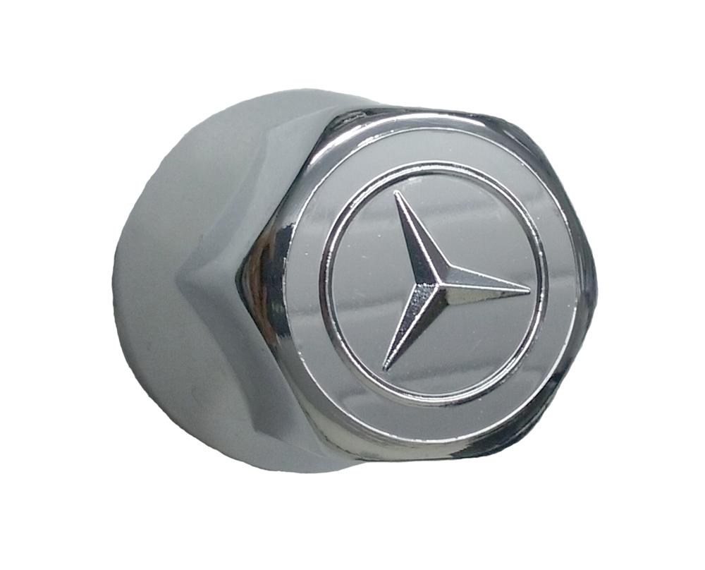 Capa de Porca Cromada Mercedes 32mm - 20 peças  - TERRA DE ASFALTO ACESSÓRIOS
