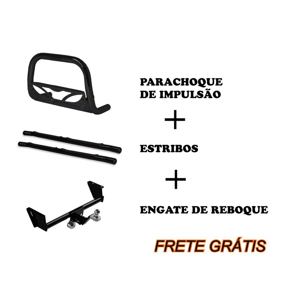 Kit acessórios gm tracker - estribo quebra mato e engate de reboque  - TERRA DE ASFALTO ACESSÓRIOS