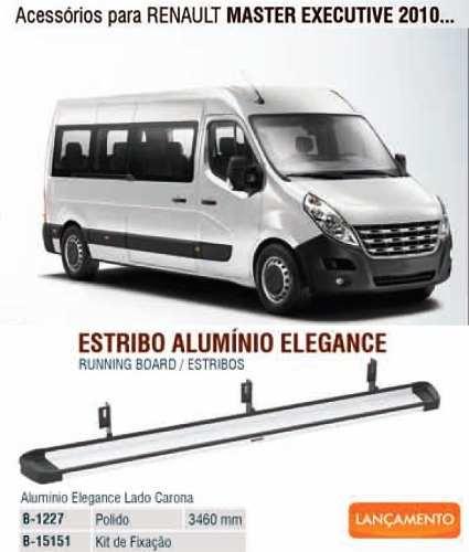 Estribo alumínio renault master longa 2010 em diante bepo  - TERRA DE ASFALTO ACESSÓRIOS