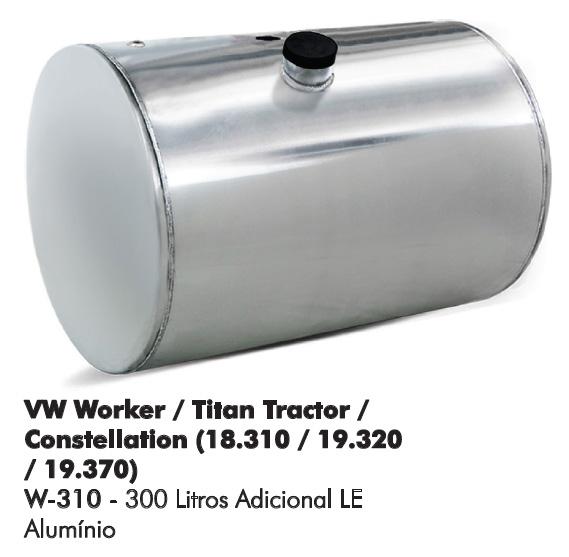 Tanque Comb. Alumínio VW Worker Titan Tractor Constellation  - TERRA DE ASFALTO ACESSÓRIOS