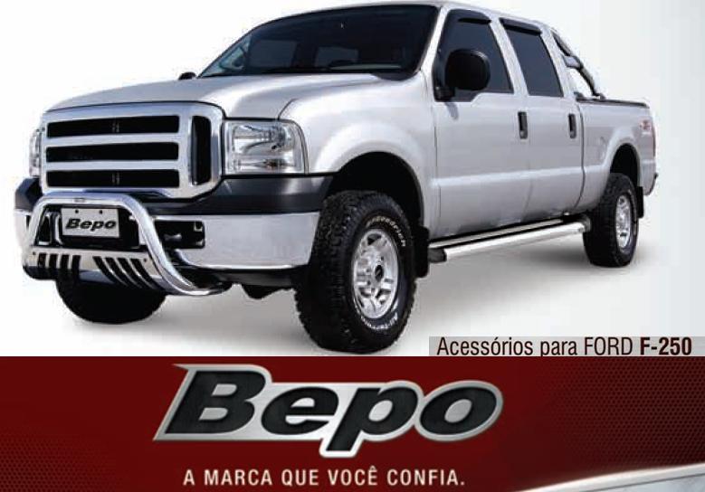 Parachoque De Impulsão Cromado Com Chapa Ford F250  - TERRA DE ASFALTO ACESSÓRIOS