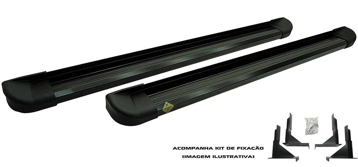 Estribo Plataforma Alumínio Preto - Ford Ranger Cabine Dupla 2012 a 2016  - TERRA DE ASFALTO ACESSÓRIOS