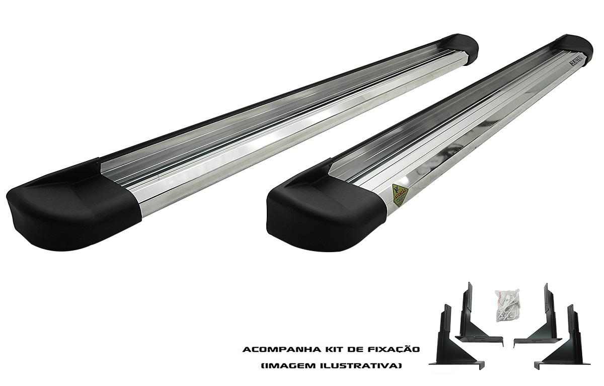 Estribo Plataforma Alumínio Fiat Toro 2016 2017 2018 2019  - TERRA DE ASFALTO ACESSÓRIOS