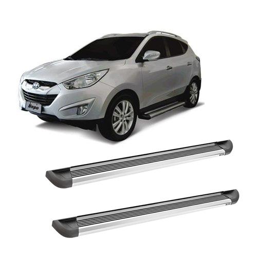 Estribo aluminio modelo g2 - bepo - hyundai ix35  - TERRA DE ASFALTO ACESSÓRIOS