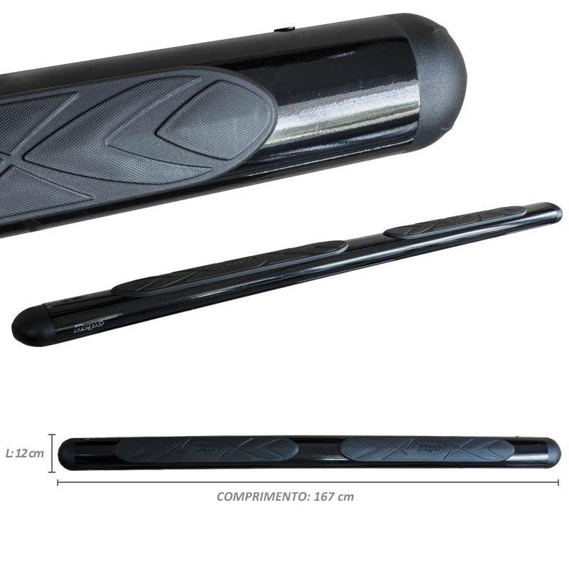Estribo oval preto com kit - ford ecosport até 2012 - bepo  - TERRA DE ASFALTO ACESSÓRIOS