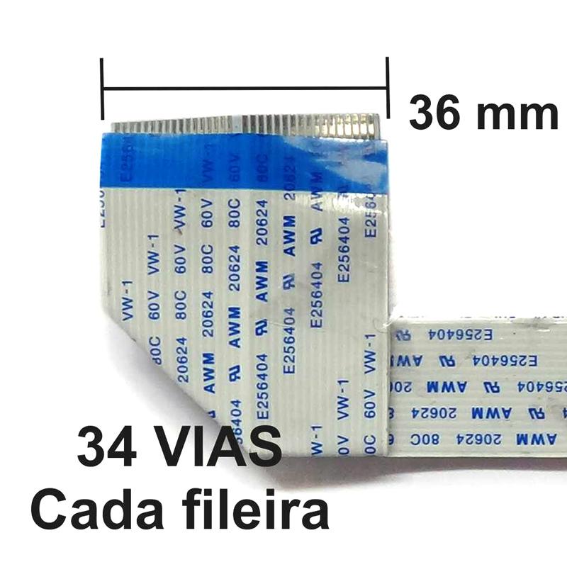 Cabo Flat das Cabeças -  DX7 17 VIAS  - Meu Plotter