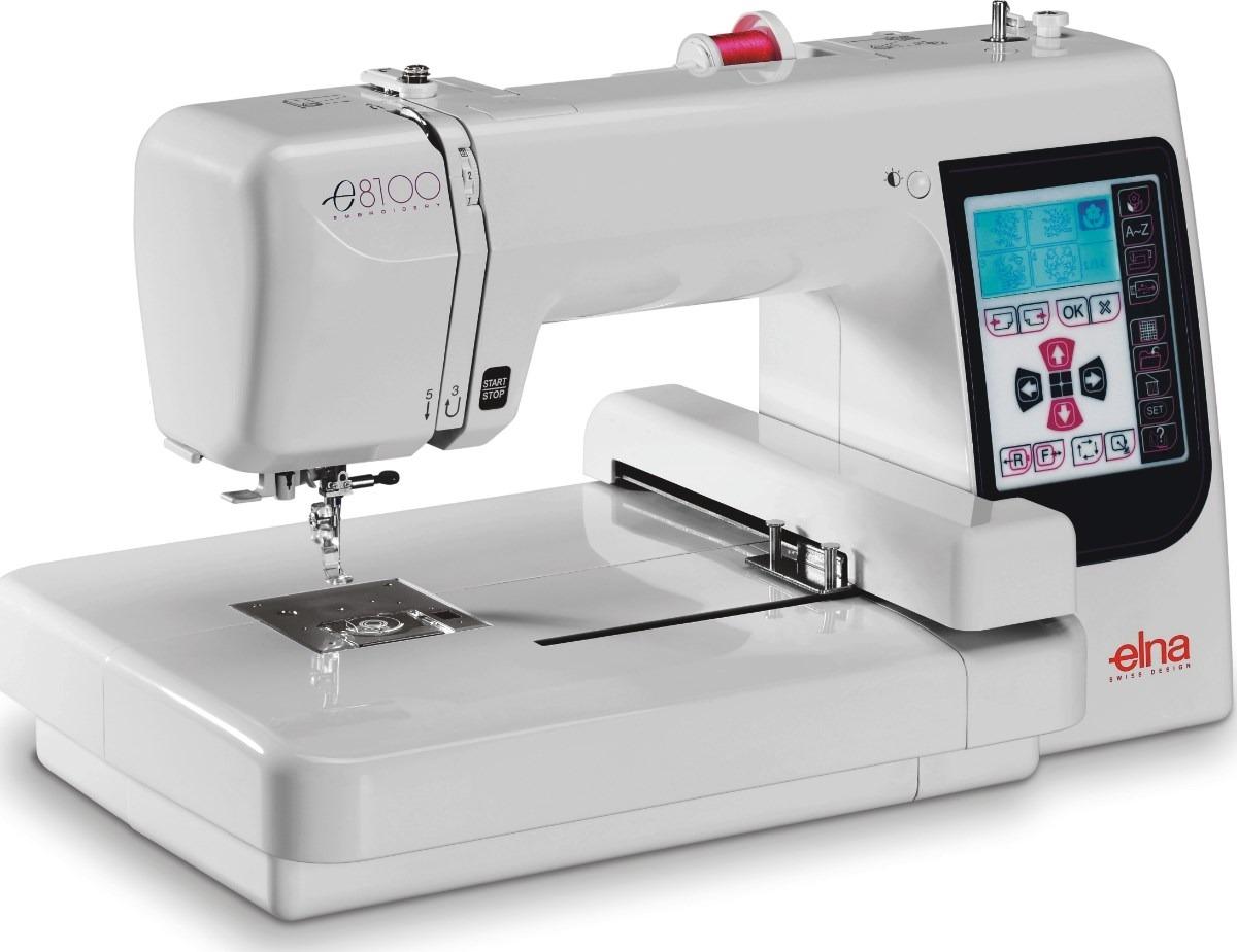 Máquina de Bordar ELNA 8100 - 14x14cm. 70 Bordados na memória
