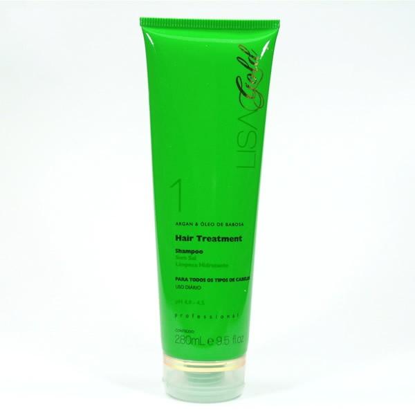 Shampoo Lisa Gold - Argan & Óleo de Babosa 280mL  - MagnePhoton