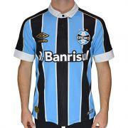 Camiseta Gremio 2019 Oficial I Tricolor Umbro (Atleta) nº10 3G160777-312