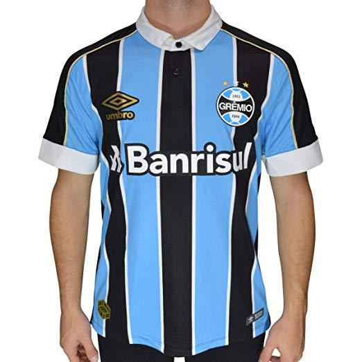Camiseta Gremio 2019 Oficial I Tricolor Umbro (Atleta) nº10 3G160777-312   - DOZZE SPORT
