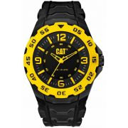 Relogio CATERPILLAR Motion Black And Yellow Rubber Strap ( LB17121137 )