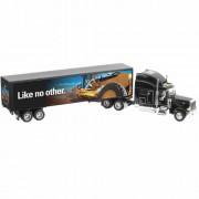 Caminhão Baú preto - Mural Motoniveladora CAT ( 55225 )