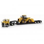 Miniatura Caminhao Cat CT660 + Carregadeira Cat 950 ( 55293 )