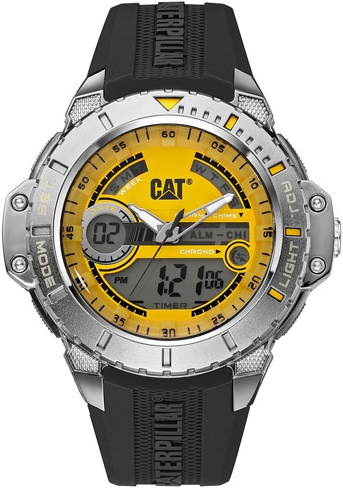743f0b06a11 Relógio CATERPILLAR Anadigit pulseira de borracha preto ( MA15521731 ...