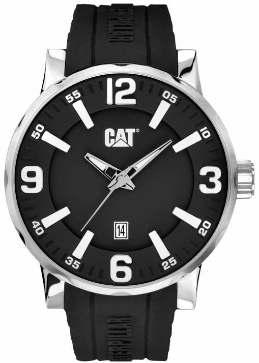 05d60c093a0 Relógio CATERPILLAR Bold Black pulseira de borracha preta ...