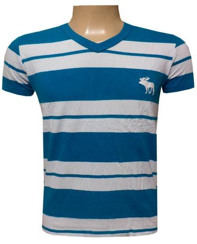 Camiseta Abercrombie Azul e Branco - AF023  - ACKIMPORTS
