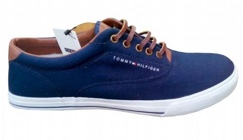 Tenis Tommy Hilfiger Azul Marinho e Marrom NYC  - ACKIMPORTS