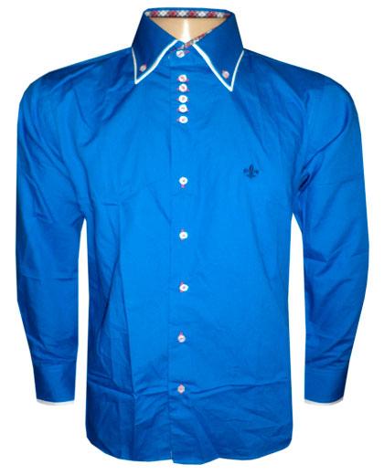 Camisa Social Dudalina Manga Longa Azul Royal - DD1  - ACKIMPORTS