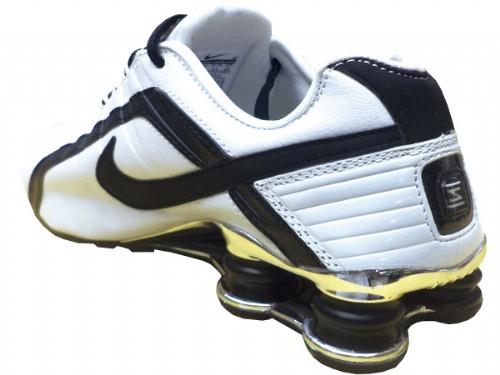 Nike Shox Junior Branco e Preto  - ACKIMPORTS