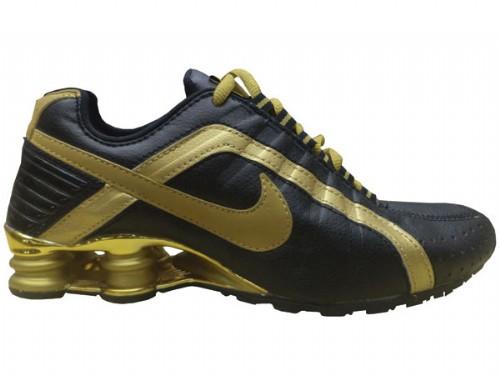 Nike Shox Junior Preto e Dourado  - ACKIMPORTS