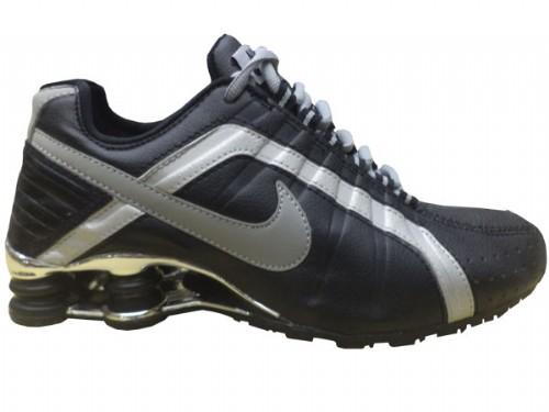 Nike Shox Junior Preto e Prata  - ACKIMPORTS