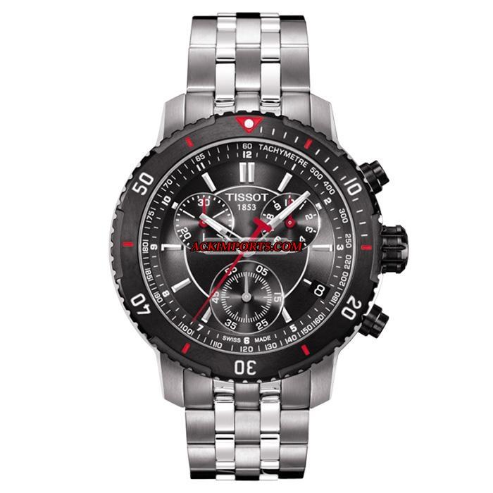 Relógio Masculino Tissot PRS 200 T067 - Preto e Vermelho  - ACKIMPORTS
