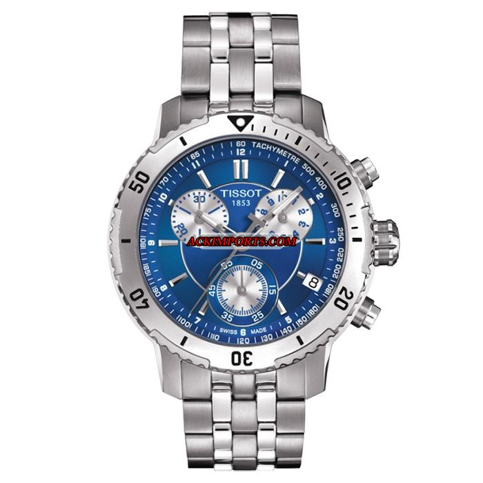 Relógio Masculino Tissot PRS 200 T067 - Azul  - ACKIMPORTS