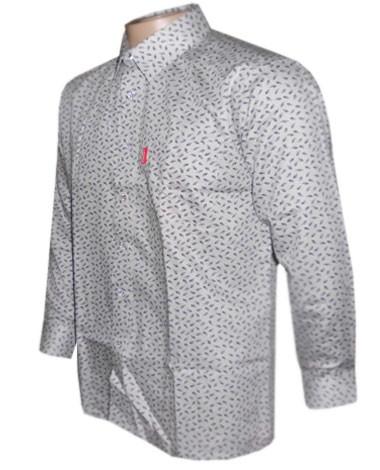 Camisa Social Prada Manga Longa Cinza - P10  - ACKIMPORTS