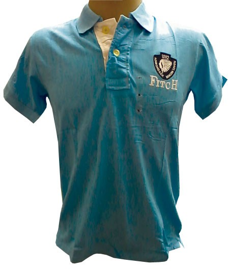 Camisa Polo Abercrombie Azul Calro Ref BX  - ACKIMPORTS