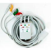 Cabo de ECG 5 vias cardioversor philips MRX XL