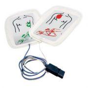 Eletrodo para desfibrilador LIFE 400 CMOS DRAKE conector preto