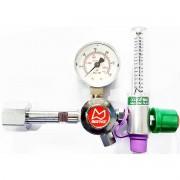 Válvula reguladora de cilindro de oxigênio com fluxômetro