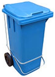 Lixeira com Rodas 120 litros com Pedal, disponível em vária cores