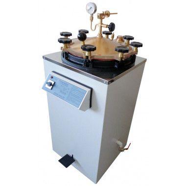 Autoclave vertical analógica para laboratório
