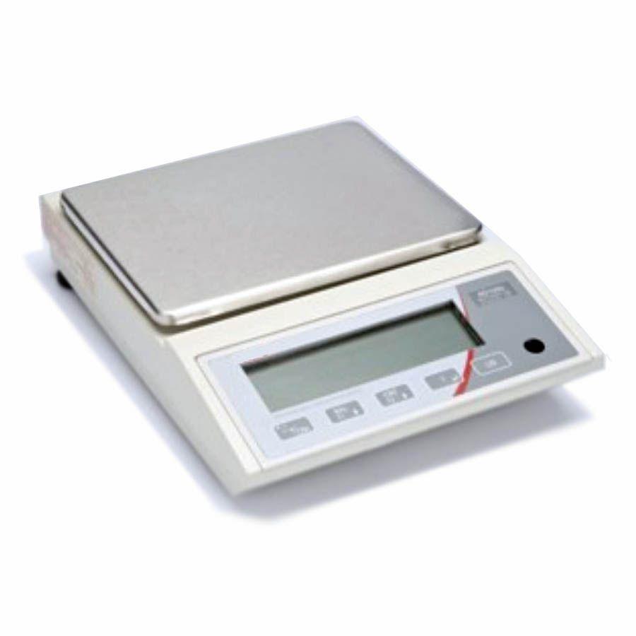 Balança de precisão 5000g (5kg) x 0,1g,  digital e prato  inox