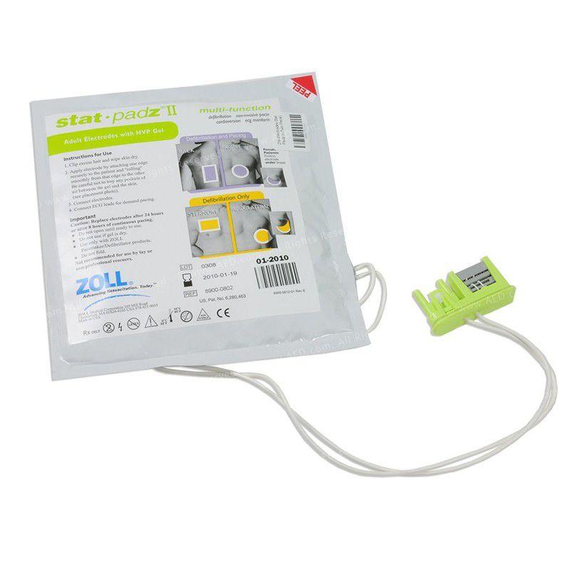 Eletrodo descartável adulto para desfibrilador zoll AED stat-padz II