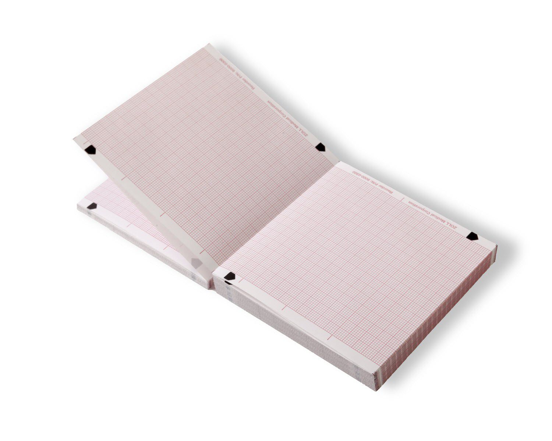 Papel de ecg para desfibrilador ZOLL com 10 blocos