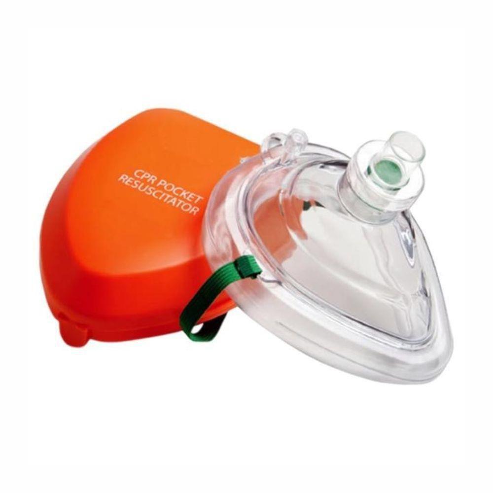 Pocket mask para RCP com estojo e válvula unidirecional