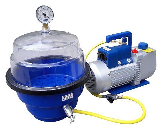 Sistema de vácuo para laboratorio, para testes de embalagens e produtos