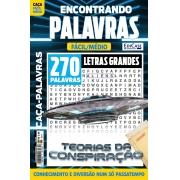 Revista Caça-Palavras - Encontrando Palavras Ed. 228 - Letras Grandes - Tema: Teorias da Conspiração