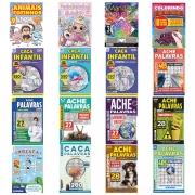 Kit c/ 16 Revistas Caça-Palavras - Diversão e Conhecimento Ed.02 - Atividades para Família